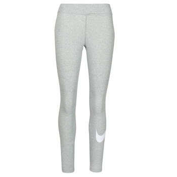 textil Dam Leggings Nike NSESSNTL GX MR LGGNG SWSH Grå / Vit