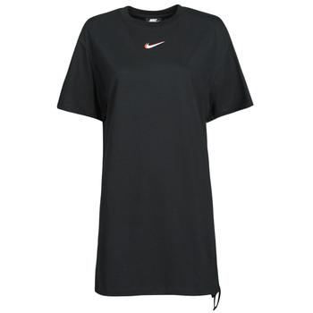 textil Dam T-shirts Nike NSESSNTL DRESS PRNT Svart