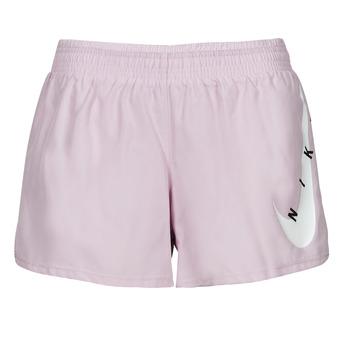 textil Dam Shorts / Bermudas Nike SWOOSH RUN SHORT Violett / Vit