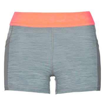 textil Dam Shorts / Bermudas Nike NIKE PRO 3IN SHORT FEMME NVLTY PP2 Grå / Orange / Vit