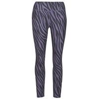 textil Dam Leggings Nike NIKE ONE 7/8 AOP TGT ICNCLSH Violett / Svart