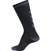 Accessoarer Barn Sportstrumpor Hummel Chaussettes  elite indoor high noir/gris foncé