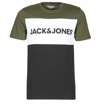 textil Herr T-shirts Jack & Jones JJELOGO Kaki