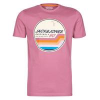textil Herr T-shirts Jack & Jones JORTYLER Rosa