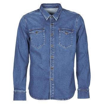 textil Herr Långärmade skjortor Yurban OPUCI Blå