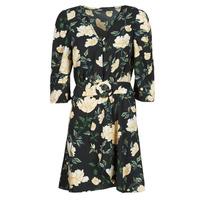 textil Dam Korta klänningar Only ONLEVE 3/4 SLEEVE SHORT DRESS WVN Svart