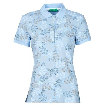 textil Dam Kortärmade pikétröjor Benetton CHOLU Blå