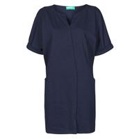 textil Dam Korta klänningar Benetton CAMILA Marin