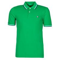 textil Herr Kortärmade pikétröjor Benetton 3WG9J3181-108 Grön