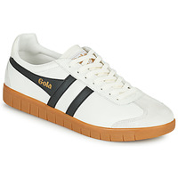 Skor Herr Sneakers Gola HURRICANE LEATHER Vit / Svart