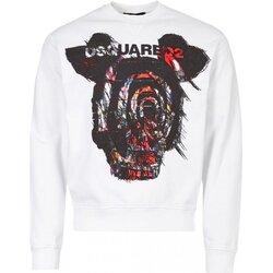 textil Herr Sweatshirts Dsquared S71GU0312 Vit