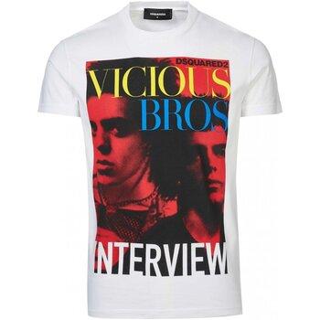textil Herr T-shirts Dsquared S74GD0475 Vit