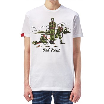 textil Herr T-shirts Dsquared S74GD0361 Vit