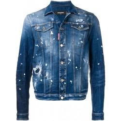 textil Herr Jeansjackor Dsquared S71AN0052 Blå