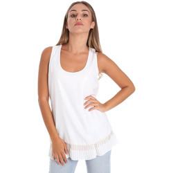 textil Dam Blusar Fracomina FR20SM014 Vit