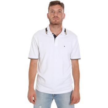textil Herr Kortärmade pikétröjor Les Copains 9U9021 Vit