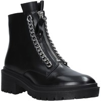 Skor Dam Boots Apepazza F0COMBAT10/LEA Svart