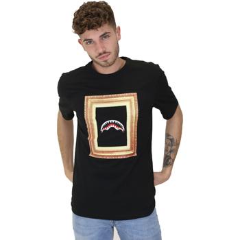 textil Herr T-shirts Sprayground 21SFW005 Svart