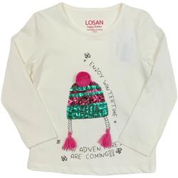 textil Barn Långärmade T-shirts Losan 026-1201AL Vit