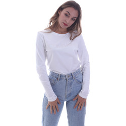 textil Dam Långärmade T-shirts Calvin Klein Jeans K20K202386 Vit
