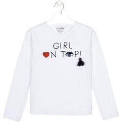 textil Barn Långärmade T-shirts Losan 024-1021AL Vit