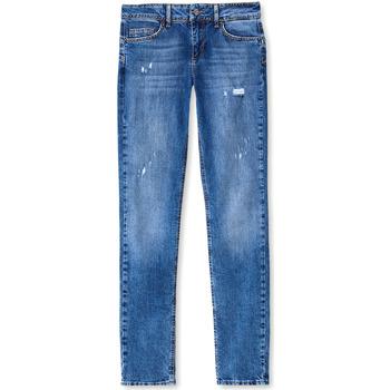 textil Dam Jeans boyfriend Liu Jo UF0016 D3105 Blå