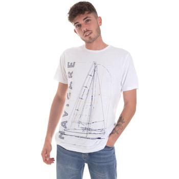 textil Herr T-shirts Navigare NV31109 Vit