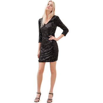 textil Dam Korta klänningar Fracomina F120W14034W01985 Svart