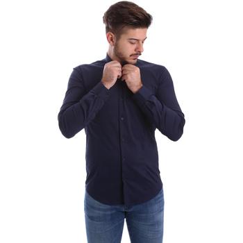 textil Herr Långärmade skjortor Automatic CAU22400 Blå