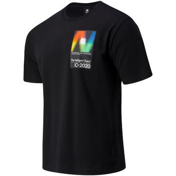 textil Herr T-shirts New Balance NBMT03529BK Svart