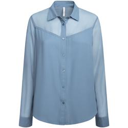 textil Dam Skjortor / Blusar Pepe jeans PL303835 Blå