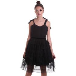 textil Dam Korta klänningar Fracomina F120W14019W01201 Svart