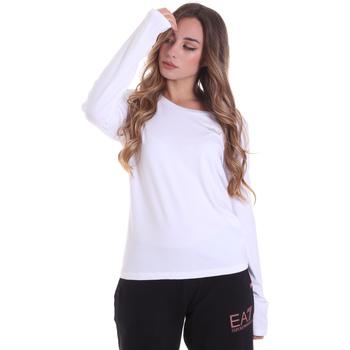 textil Dam Långärmade T-shirts Ea7 Emporio Armani 6HTT04 TJ28Z Vit