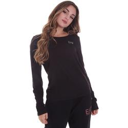 textil Dam Långärmade T-shirts Ea7 Emporio Armani 6HTT04 TJ28Z Svart