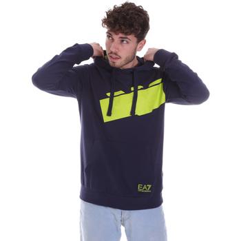 textil Herr Sweatshirts Ea7 Emporio Armani 6HPM78 PJ05Z Blå