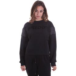textil Dam Sweatshirts Freddy F0WTBS1 Svart