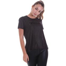 textil Dam T-shirts Freddy F0WALT2 Svart