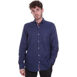 textil Herr Långärmade skjortor Navigare NV91135 BD Blå