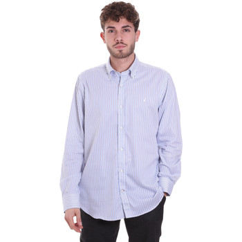 textil Herr Långärmade skjortor Navigare NV91111 BD Blå