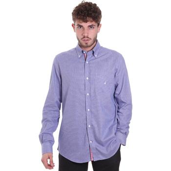 textil Herr Långärmade skjortor Navigare NV91133 BD Blå
