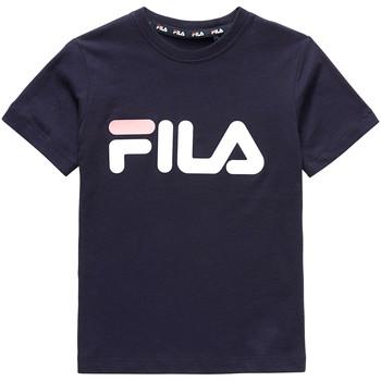 textil Barn T-shirts Fila 688021 Blå