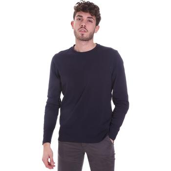 textil Herr Långärmade T-shirts Sseinse MI1691SS Blå