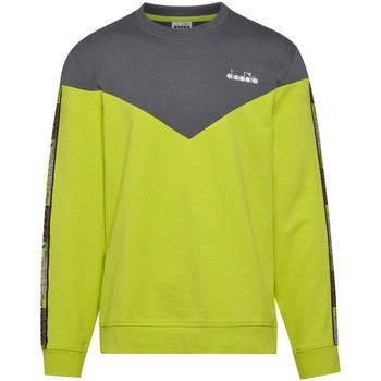 textil Herr Sweatshirts Diadora 502176428 Grön