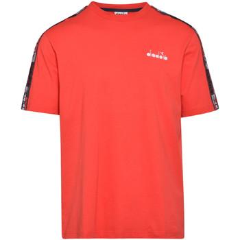 textil Herr T-shirts Diadora 502176429 Röd