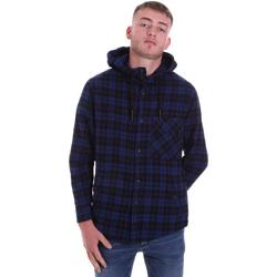 textil Herr Långärmade skjortor Antony Morato MMSL00636 FA410149 Blå