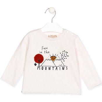 textil Flickor Långärmade T-shirts Losan 027-1018AL Beige