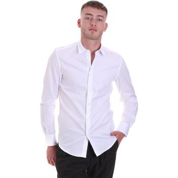 textil Herr Långärmade skjortor Antony Morato MMSL00628 FA400079 Vit