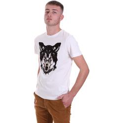textil Herr T-shirts Antony Morato MMKS01878 FA100144 Vit