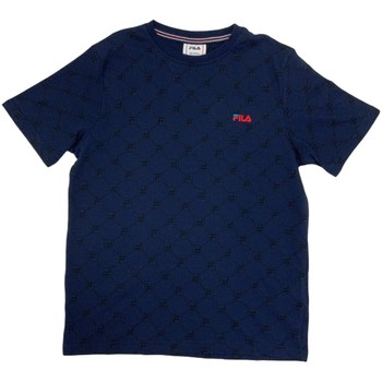 textil Pojkar T-shirts Fila 688084 Blå