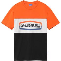 textil Herr T-shirts Napapijri NP0A4FDH Svart
